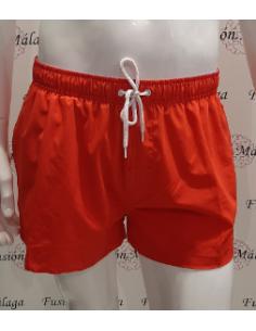 Men's Short Red Swimsuit