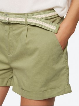 BELT STRIPE BEIGE COTTON GREEN