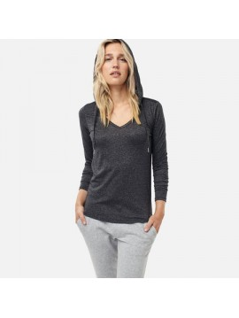 CAMISETA ML CON CAPUCHA MARLY  O NEILL DARK  DARK GREY MELEE