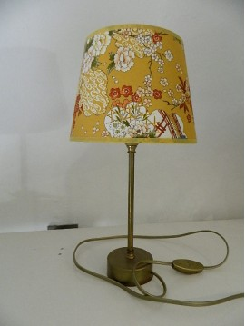 JAPONESE FLOWERS YELLOW LAMP PESETA
