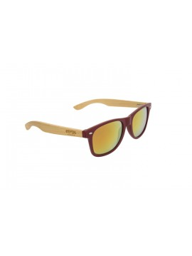 SUNGLASSES FROM COOL WOOD FRAME MODEL WOODY CRYSTAL RED