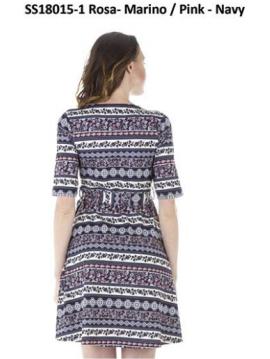 AKINO LAUDE SHORT DRESS WITH V-NECK WITH POM POM