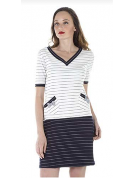 AKINO LAUDE SHORT DRESS STYLE SAILOR WITH SHORT SLEEVES