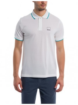 MAN BENCH POLO SHORT SLEEVES WHITE