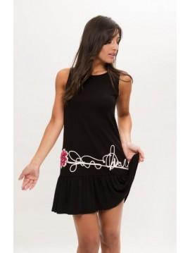 BLACK SHORT DRESS SLEEVELESS COMOUNAREGADERA