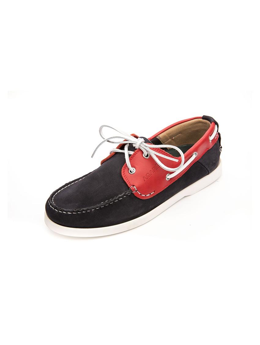 Rojo Náutico Fusión Zapato Azul Hombre Piel málaga IFxxApUwq