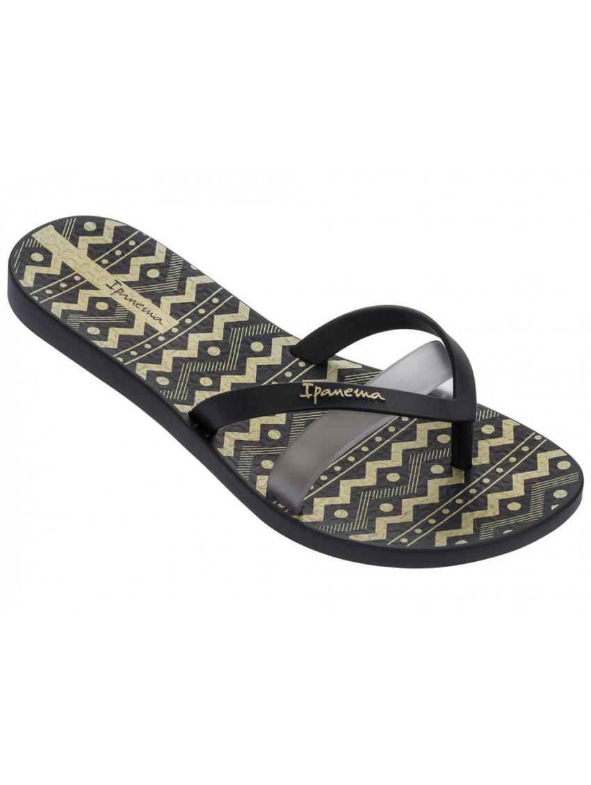 Womens Kirei Silk III Fem Flip Flops, Black Ipanema