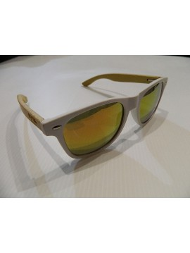 SUNGLASSES FROM COOL FRAME WOOD MODEL WOODY WHITE 2