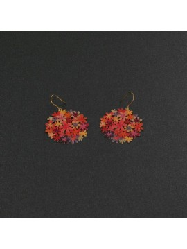 RAS GOLD AND ORANGE EARRINGS SMALL BOUQUET