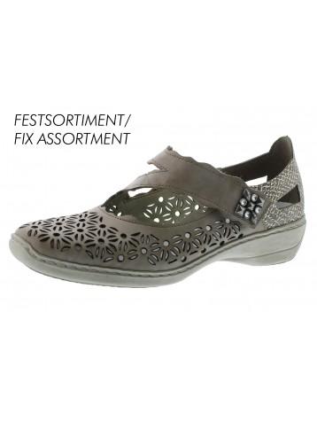 Chaussures Peau málaga Fusión Antistress Rieker En Femmes SzMGqUpV