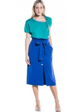 SKIRT WITH BUTTONS COTTON BROTHERS NAUTICAL BLUE