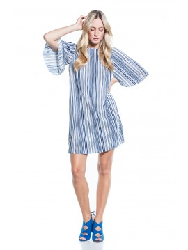PLEATED BLUE DRESS COTTON BROTHERS