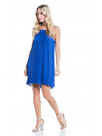 DRESS NAUTICAL BLUE PLEATED COTTON BROTHERS