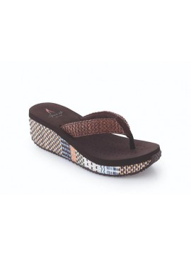 WOMAN FLIP FLOPS SPICE UP MODEL GENOVA PLAT BROWN