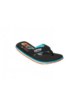 BOY FLIP FLOP COOL SHOE OS LOGO ORIGINAL BLUE ORANGE