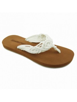 FLIP FLOP BRASILERAS WOMEN CROCHET WHITE