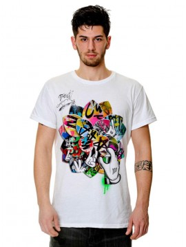 MEN TRACT TSHIRT GRAFFITI LOTUS