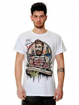 MEN TRACT GRAFFITI TATOOS TSHIRT