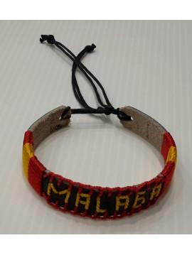 SOUVENIR MÁLAGA LEATHER BRACELET COLORS OF SPAIN